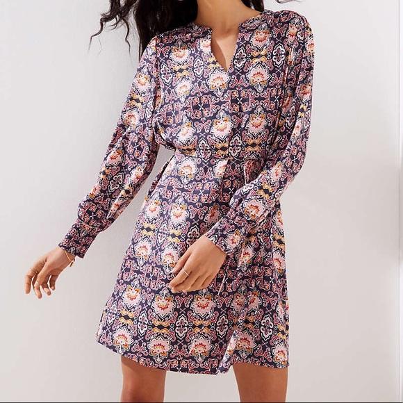 22b94cff2e LOFT Dresses   Skirts - Ann Taylor Loft Fall Fantasy Shirtdress Sz Large
